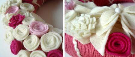 pink wreath details